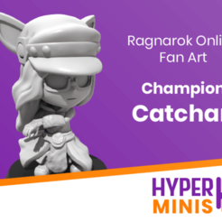 Chibi_Catchan_4.png Download free STL file Chibi Champion Catchan • 3D printable design, HyperMiniatures
