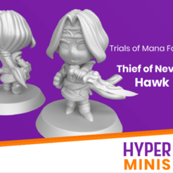 Thief_of_Nevarl_Hawk_2.png Download free STL file Chibi Hawk | Trials of Mana (Seiken Densetsu) • 3D print template, HyperMiniatures