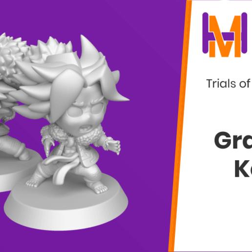 Download free STL file Chibi Kevin   Trials of Mana (Seiken Densetsu 3) • 3D printing design, HyperMiniatures