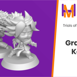 Grappler_Kevin.png Download free STL file Chibi Kevin | Trials of Mana (Seiken Densetsu 3) • 3D printing design, HyperMiniatures