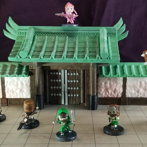 Gate 1-100.jpg Download STL file Modular Magnetic Japanese Gate • 3D print model, HyperMiniatures