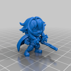 High_Elf.png Download free STL file Chibi High Elf Archer • 3D print object, HyperMiniatures