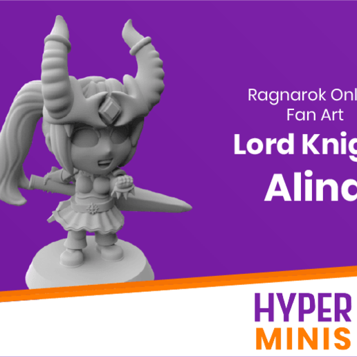 Download free 3D printer model Chibi Lord Knight Alina, HyperMiniatures
