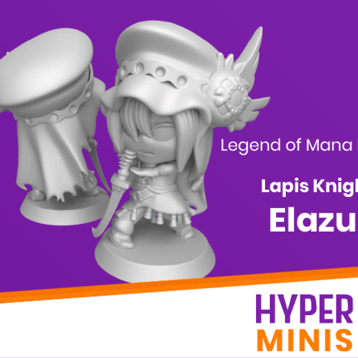 Download free STL file Chibi Elazul   Legend of Mana • Design to 3D print, HyperMiniatures