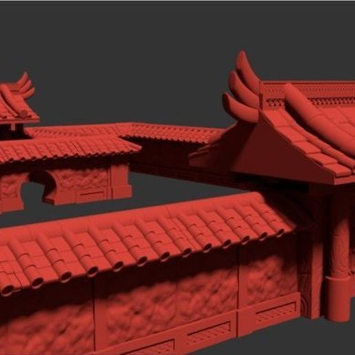 Japanese Gate Render.jpg Download STL file Modular Magnetic Japanese Gate • 3D print model, HyperMiniatures