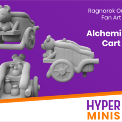 Download free 3D printer templates Chibi Alchemist's Cart, HyperMiniatures