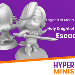 Download free STL file Chibi Escad | Legend of Mana (Seiken Densetsu), HyperMiniatures