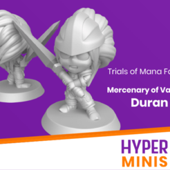 Download free STL file Chibi Duran | Trials of Mana (Seiken Densetsu) • 3D printer model, HyperMiniatures