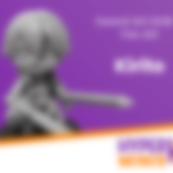 Hyper_Minis_Base.stl Download free STL file Chibi Kirito • 3D printing object, HyperMiniatures