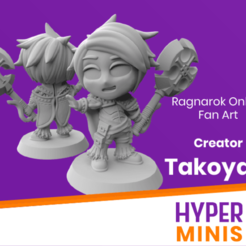 Creator_Takoyaki.png Download free STL file Chibi Creator Takoyaki - Ragnarok Online Fan Art • 3D printable model, HyperMiniatures
