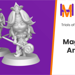 Download free STL file Chibi Angela | Trials of Mana (Seiken Densetsu 3) • 3D printing model, HyperMiniatures