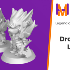 Dragoon_Larc.png Download free STL file Chibi Larc | Legend of Mana • Template to 3D print, HyperMiniatures