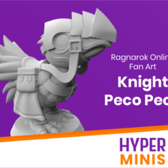 Download free 3D printing templates Chibi Knight Peco Peco, HyperMiniatures