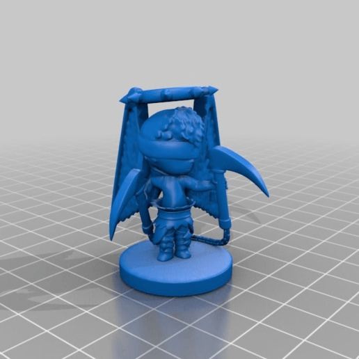 Download free STL file Angel Rogue Cross • 3D printing design, HyperMiniatures