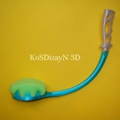 Télécharger plan imprimante 3D Poignée de lavage ergonomique à revers, KosDizayN3d