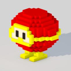 Descargar archivos STL Dig Dug - Red Monster, Sahiko12