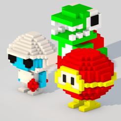 Impresiones 3D Dig Dug Triple Pack, Sahiko12