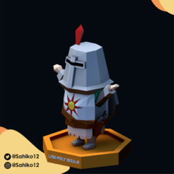 LOW POLY SOULS insta-04.png Download STL file Low Poly Souls - Solaire of Astora • 3D printing design, Sahiko12