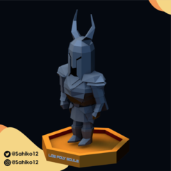 LOW POLY SOULS insta-09.png Download STL file Low Poly Souls - Black and Gray Knight • Design to 3D print, Sahiko12