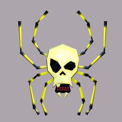 Descargar archivos 3D Skulltula Low Poly , Sahiko12