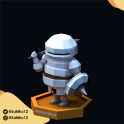 LOW POLY SOULS insta-07.png Download STL file Low Poly Souls - Siegmeyer of Catarina • 3D printer template, Sahiko12