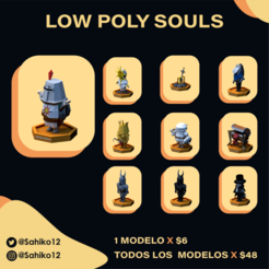 LOW POLY SOULS insta-11.png Download STL file Low Poly Souls - All Models • 3D printable object, Sahiko12
