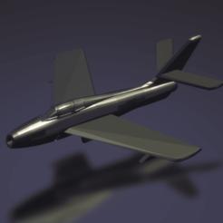 Download free 3D printer templates Republic F-84F Thunderstreak, erikgen