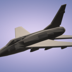 Download free 3D printing files F-100D Super Sabre, erikgen