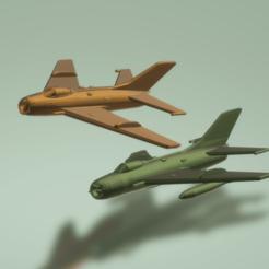 Descargar archivos STL gratis Mikoyan-Gurevich Granjero MiG-19, erikgen