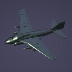 titolo.jpg Download STL file 1:200 Grumman A-6 Intruder • 3D print design, ErikGen