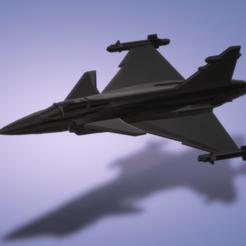 Descargar archivos STL gratis Saab JAS 39 Gripen, erikgen