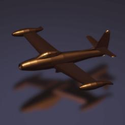 Download free STL file Republic F-84E Thunderjet, erikgen