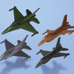 Titolo.png Download STL file General Dynamics F-16 Fighting Falcon • 3D printable model, ErikGen