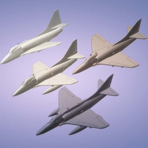 Download STL file 1:200 Douglas A-4 Skyhawk • 3D printable design, erikgen