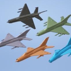 titolo.jpg Download STL file 1:200 Mikoyan-Gurevich MiG-21 • 3D printer object, ErikGen
