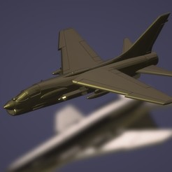 titolo.jpg Download STL file 1:200 Vought F-8 Crusader • 3D printing model, ErikGen