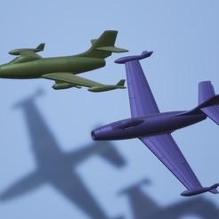 titolo.jpg Télécharger fichier STL 1:200 Dassault M.D.450 Ouragan • Modèle pour imprimante 3D, ErikGen