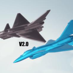 titolo.png Download STL file Chengdu J-10 Vigorous Dragon V2.0 • 3D printer model, ErikGen