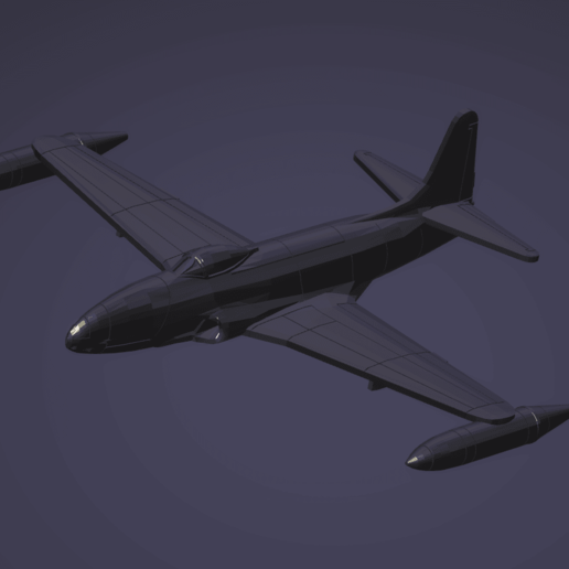 Download STL file 1:200 Lockheed F-80 Shooting Star • 3D printing template, erikgen