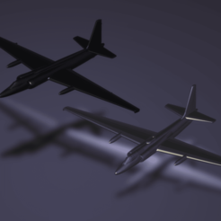 Download free 3D printer designs Lockheed U-2B/C Spyplane, erikgen