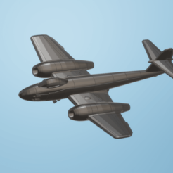 Download STL file 1:200 Gloster Meteor F.8 • 3D printing object, erikgen