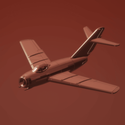 Download STL file 1:200 Mikoyan-Gurevich MiG-15 Fagot • 3D printable design, erikgen