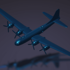 titolo.png Download STL file Boeing B-29 Superfortress • 3D printable template, ErikGen