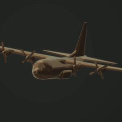 Descargar STL gratis Lockheed C-130H Hércules, erikgen
