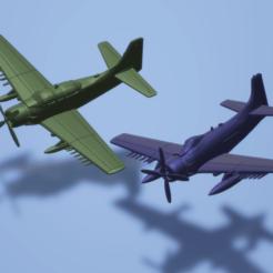 titolo.png Download STL file 1:200 Douglas A-1 (AD) Skyraider • 3D print object, ErikGen