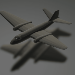 titolo.png Download STL file English Electric Canberra B2 • 3D print object, ErikGen