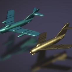 Descargar Modelos 3D para imprimir gratis Mikoyan-Gurevich MiG-17, erikgen