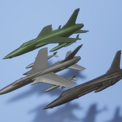 titolo.jpg Download STL file 1:200 Republic F-105 Thunderchief • 3D printing object, ErikGen