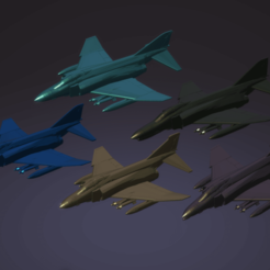 Download STL file 1:200 McDonnell Douglas F-4 Phantom II  • 3D printer object, erikgen