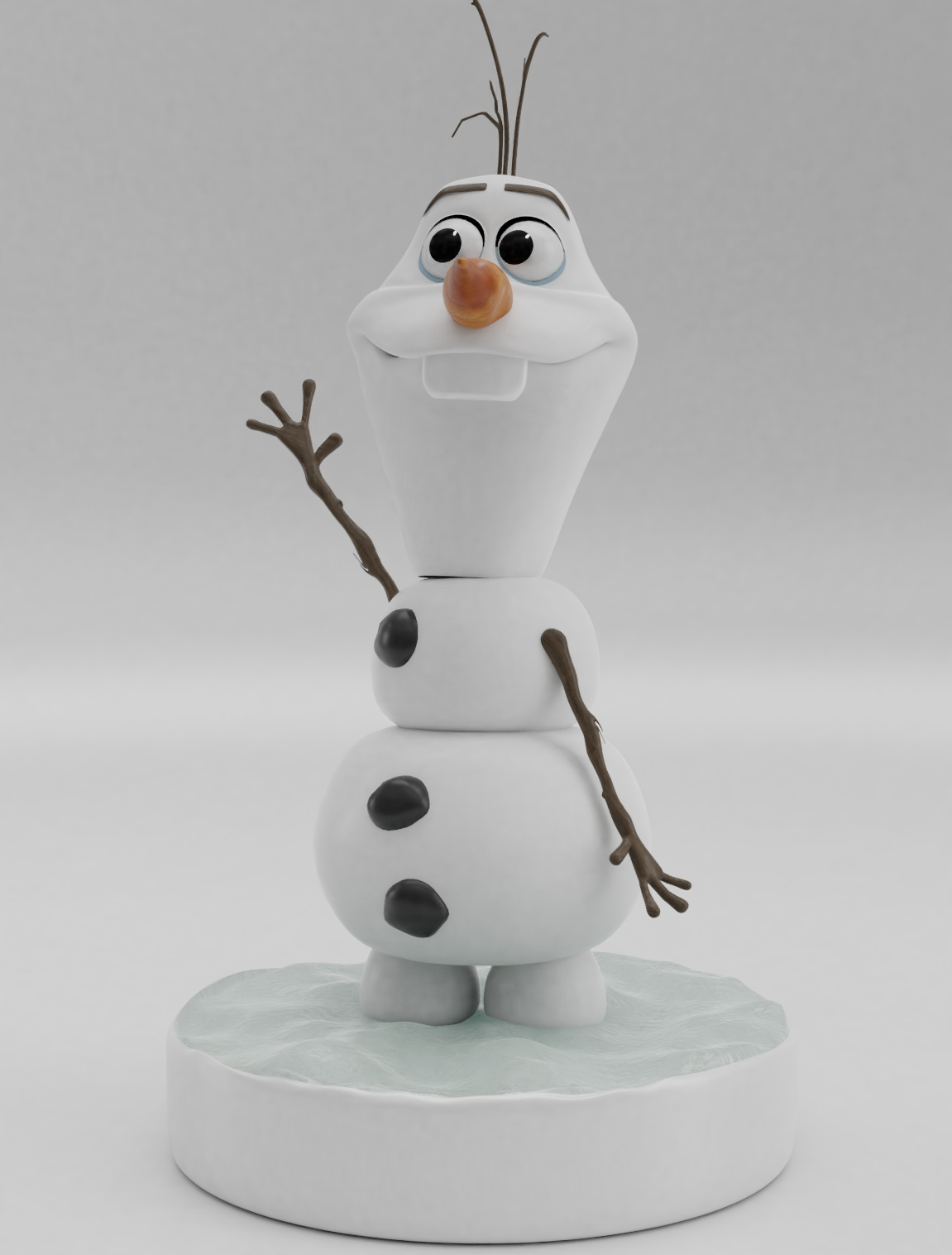 Download 3d Printer Designs Olaf From Frozen 3d Print Model Cults